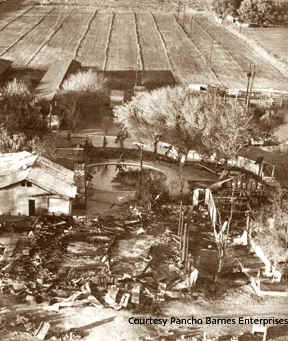 Ruins of Happy Bottom Riding Club after fire